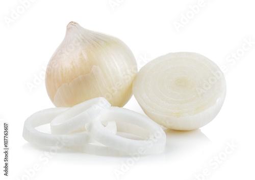 Fototapeta white onion on white background obraz