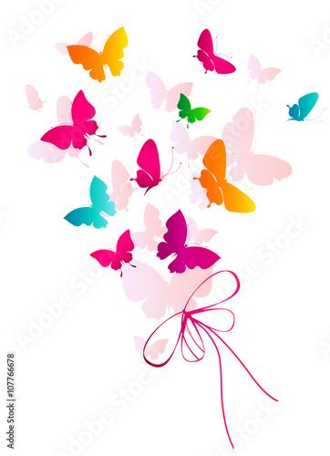 Tuinposter butterflies design