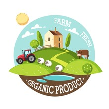 Organic Product. Farm Fresh. S...