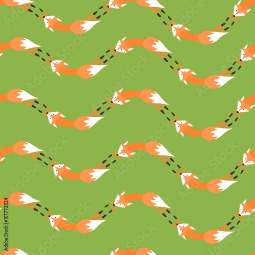 Cotton fabric Pattern with foxes