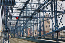 Colorful Bridge With Pittsburgh, PA, Skyline