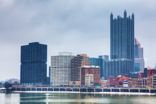 The Pittsburgh Skyline In Winter