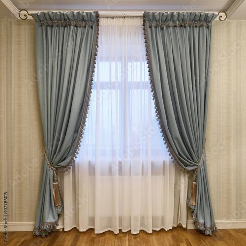 Fotografía  Decoración de ventanas cortinas