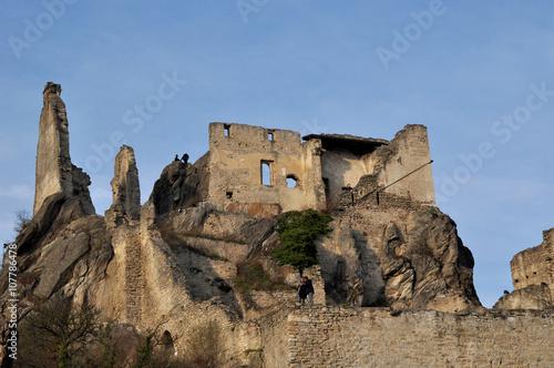 Foto op Aluminium Rudnes Ruin Dürnstein Wachau
