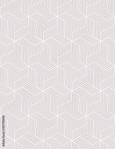 Vector seamless texture. Modern abstract background. Geometric pattern with hexagons. - 107790698