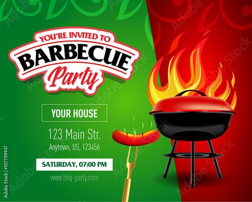 barbecue party design barbecue invitation barbecue logo bbq