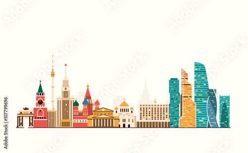 Photo  Moscow abstract skyline