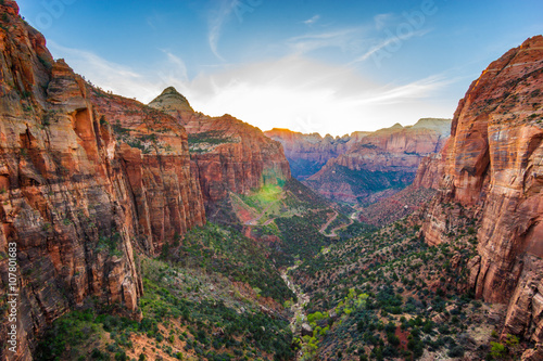Fotoposter Canyon Amazing view of Zion national park, Utah