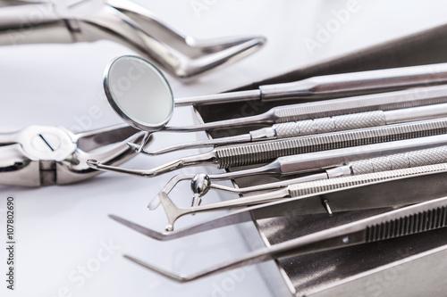 Poster de jardin Metal Dental tools