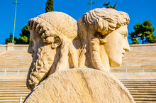 Herm Scultpure From The Panathenaic Stadium In Athens(hosted The First Modern Olympic Games In 1896)
