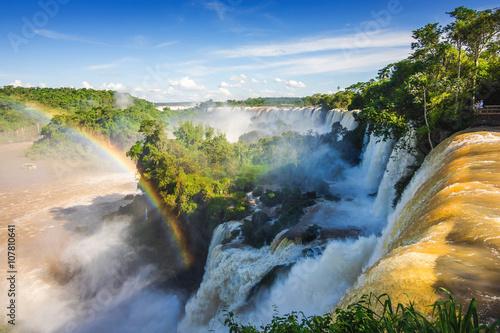 Küchenrückwand aus Glas mit Foto Wasserfalle Iguazu Falls, on the Border of Argentina and Brazil.