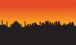 Taj mahal silhouette design, vector illustration