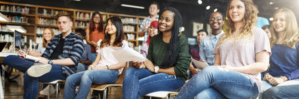 Fototapety, obrazy: Student Study Classmate Classroom Lecture Concept