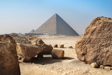 Giza, Egypt. The World's Oldest Tourist Attraction, The Pyramids Of Giza Are Nearly 5000 Years Old.