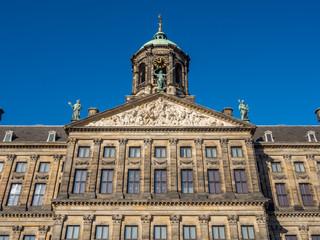 Fototapeta na wymiar Front of Royal palace in Amsterdam