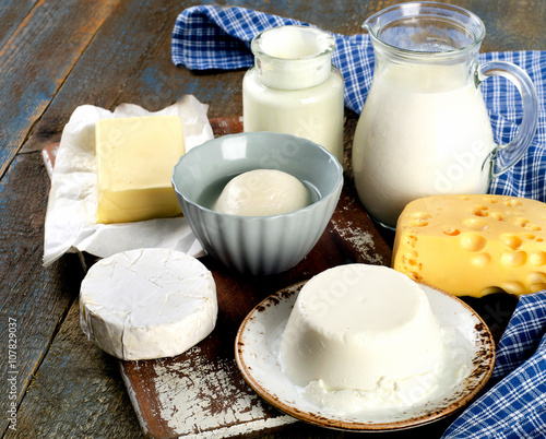 Poster Produit laitier Fresh Dairy products