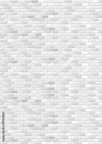 Fotomural mur de briques blanc