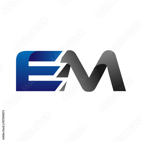 Photo  Modern Simple Initial Logo Vector Blue Grey em