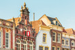 Old houses in the Dutch city of Gouda