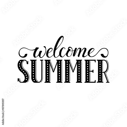 Fotografie, Obraz  Welcome summer wording