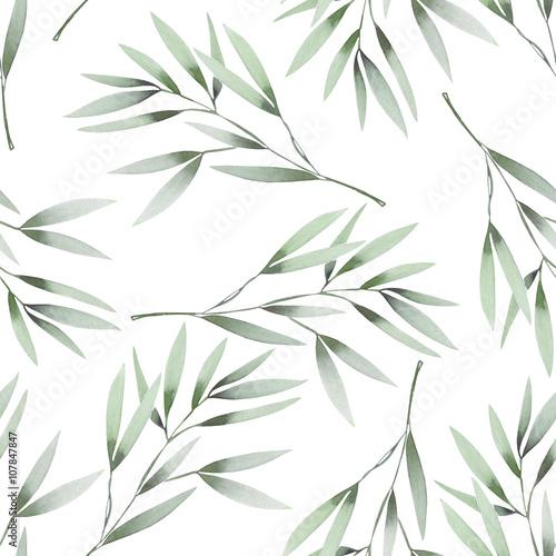 kwiatowy-wzor-z-akwarela-zielonych-lisci