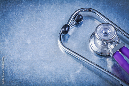 Auscultoscope on metallic background horizontal version medicine Wallpaper Mural