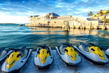 Jet Skis And Buildings Of Key West