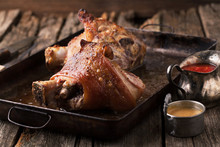 Roasted Pork Knuckle With Must...