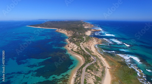 Fort Nepean road as seen from helicopter, Australia Wallpaper Mural