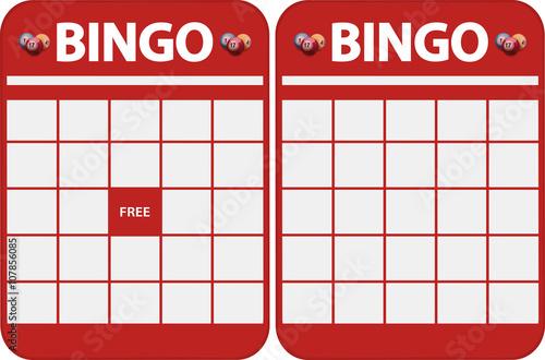 Blank bingo cards Wallpaper Mural