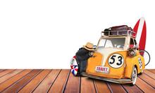 Travel, Old Car Toy Vintage On...
