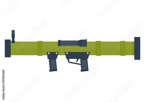 bazooka vector illustration. Canvas Print