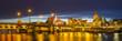 night panorama of the city, Szczecin, Poland