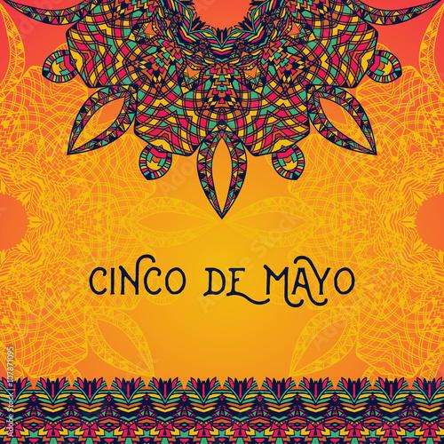 Beautiful greeting card invitation for cinco de mayo festival beautiful greeting card invitation for cinco de mayo festival design concept for mexican fiesta stopboris Image collections