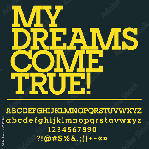 Motivational Card With Text My Dreams Come True Vector Set Of
