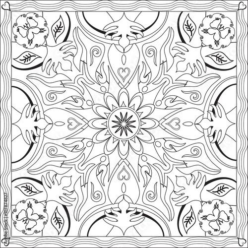Page Coloriage Pour Adultes Livre Design Motif Mandala Fleur