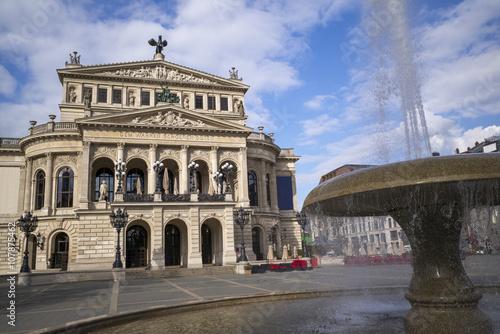In de dag Palermo Alte Oper in Frankfurt am Main, Hessen, Deutschland