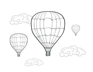 hand drawn air balloons