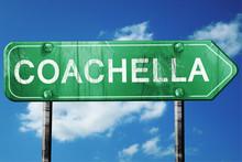 Coachella Road Sign , Worn And...
