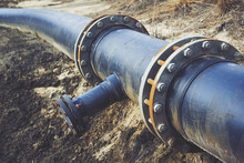 Steal Big Pipeline On A Ground...