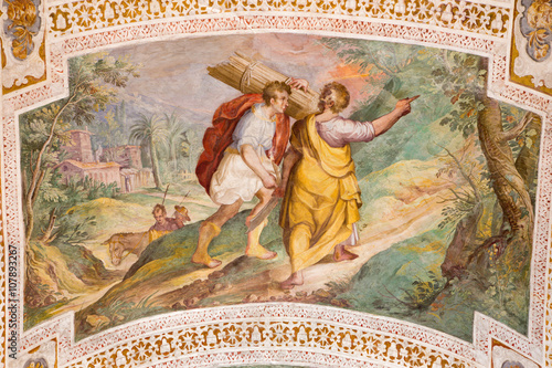 Foto  Rome - The Abraham and Isaac Going to the Sacrifice by P