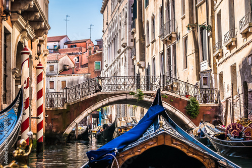 All about gondolas, Venice. / Venice is beautiful city and road with gondola is special way to see this wonderful streets on sea.