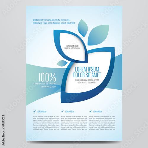 Fotografía  Brochure, flyer, annual report, magazine cover vector template