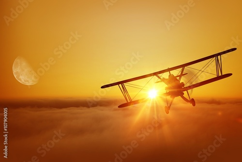 Fotografia, Obraz Airplane Flying Adventure