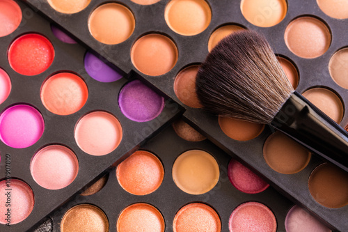 Eyeshadow Palette and brush Poster
