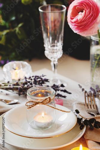 Fotobehang Restaurant Dining table setting