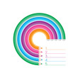 Modern infographic template with 5 curved colorful pencils, Vector. Can be used for web design and workflow layout