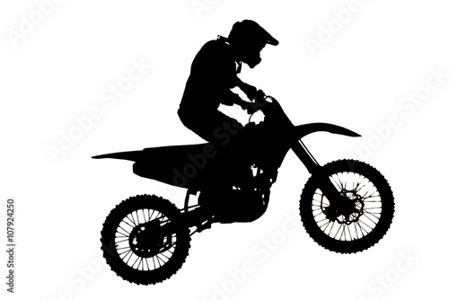 Silhouette of  motocross