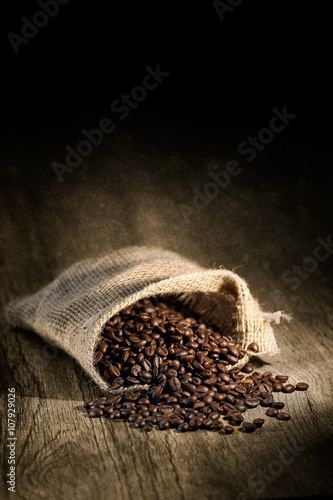 Canvas Prints Coffee beans grains de café