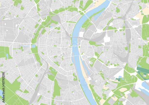 Zdjęcie XXL Wektorowa mapa miasta Kolonii